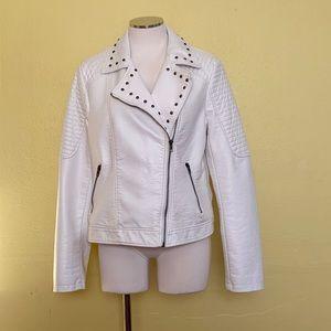 Jack by BB Dakota white leather jacket size L